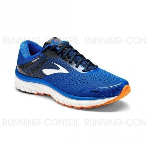 BROOKS Adrenaline GTS 18 Homme Blue/Black/Orange Vue 3/4