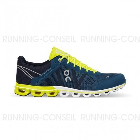 ON RUNNING Cloudflow Homme Petrol | Neon | Collection Automne Hiver 2018