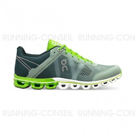 ON RUNNING Cloudflow Homme Moss | Lime | Collection Automne Hiver 2018
