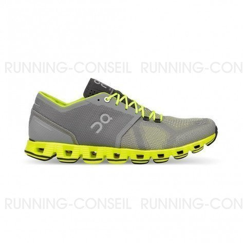 ON RUNNING Cloud X Homme Grey | Neon | Collection Automne Hiver 2018