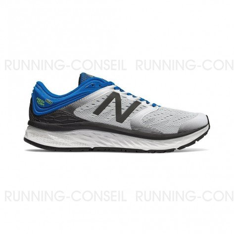 New Balance Fresh Foam 1080v8 Homme | White with Laser Blue | Collection Automne Hiver 2018