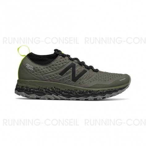 NEW BALANCE Fresh Foam Hierro v3 Homme Military Dark Triumph with Black Profil Extérieure