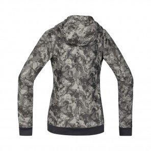 GORE® C5 Windstopper Veste à Capuche Trail Hooded Femme Terra grey camo