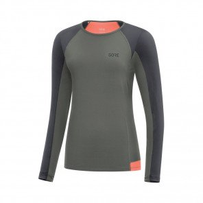 GORE® R5 Maillot manches longues Femme Castor grey/ Terra grey Face