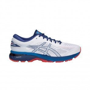 ASICS GEL-KAYANO 25 - Homme - WHITE/BLUE PRINT