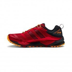 BROOKS Cascadia 12 Homme Rouge / Orange / Noir