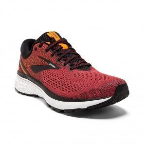 BROOKS GHOST 11 Homme - Red/Black/Orange Automne Hiver 2018