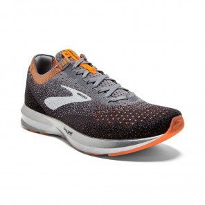 BROOKS LEVITATE 2 Homme Grey/Black/Orange | Collection Automne Hiver 2018