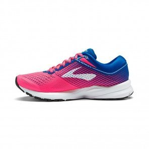 BROOKS Launch 5 Femme Rose / Bleu / Blanc