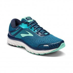 BROOKS Adrenaline GTS 18 Femme - Navy/Teal/Mint Vue 3/4