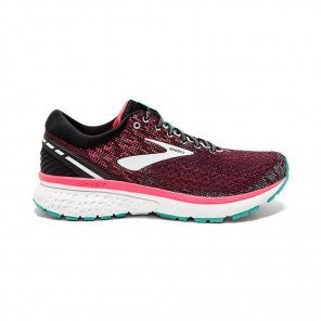 BROOKS GHOST 11 Femme - Black/Pink/Aqua