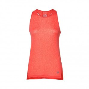 ASICS Débardeur Cool Tank Rose Saumon Face