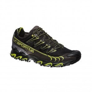La Sportiva ULTRA RAPTOR MOUNTAIN RUNNING - HOMME - Black / Apple green 3/4