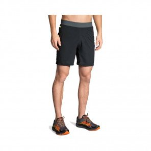 "BROOKS Short Cascadia 7"" Homme Noir / Gris Face"