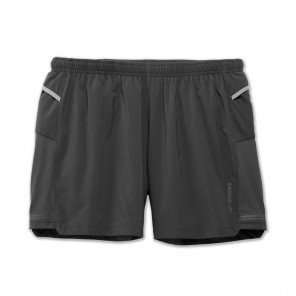 "BROOKS Sherpa 5"" short Homme Gris Face"
