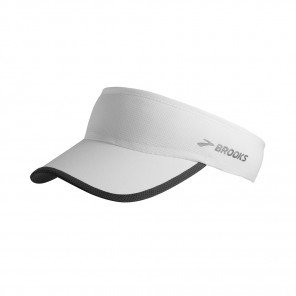 BROOKS Visière Run-Thru Visor Mixte Blanc