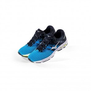 MIZUNO WAVE SHADOW 2 Homme Blue Jewel/Silver/Safety Yellow | Collection Automne Hiver 2018