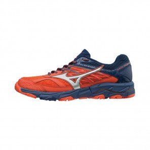 MIZUNO WAVE MUJIN 5 Homme Cherry Tomato/Silver/Estate Blue | Collection Automne Hiver 2018