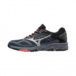 MIZUNO WAVE MUJIN 5 Femme Ombre Blue/Silver/ Hot Coral   Collection Automne Hiver 2018