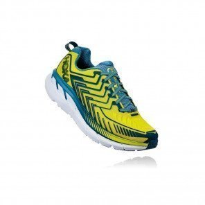 HOKA Clifton 4 - Homme - Sulphur Spring / Midnight 3/4