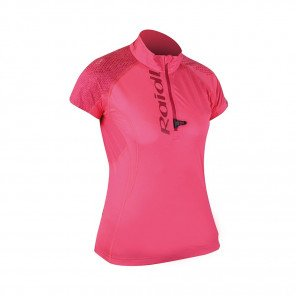 RAIDLIGHT Tee-shirt manches courtes 1/2 Zip Performer SS Femme Grenadine / Bordeau Face
