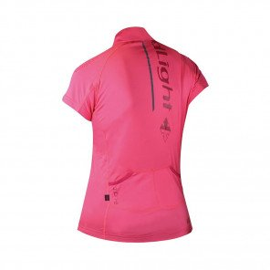 RAIDLIGHT Tee-shirt manches courtes 1/2 Zip Performer SS Femme Grenadine / Bordeau