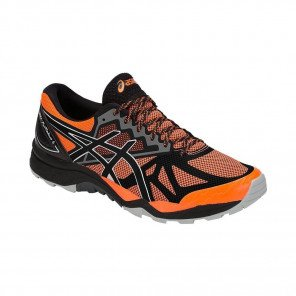 ASICS GEL-FujiTrabuco 6 - Homme - SHOCKING ORANGE/DARK GREY