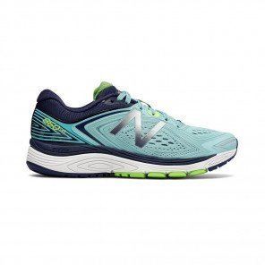 NEW BALANCE 860v8 Femme Sea Spray with Pigment / Energy Lime Profil Extérieure